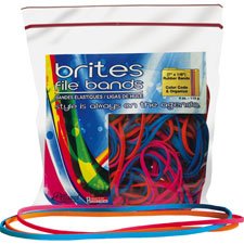 "File bands, 7""x1/8"", 50/bg, assorted, sold as 1 package"