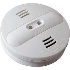 Smoke alarm, photo/ion, dual sensor, batt opr, white, sold as 1 each