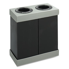 Safco Double Recycling Center Receptacles