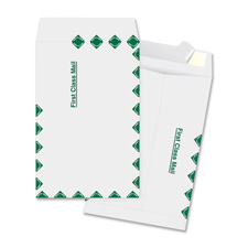 "Catalog envelopes, first class, 6""x9"", 100/bx, white, sold as 1 box"