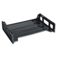 "Stacking tray, side load, 8-9/10""x13-1/5""x2-9/10"", black, sold as 1 each"