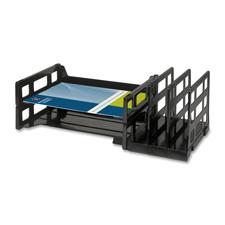 "Vertical organizer, desk tray, 14-1/8""x9-3/4""x3-3/4"", black, sold as 1 each"