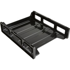"Letter tray,front load,stackable,10-1/2""x12-1/2""x3"",black, sold as 1 each"