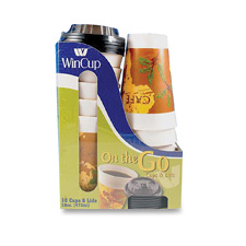 Wincup Cafe Ultima 16 oz On-the-Go cups and Lids