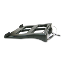 "Laptop stand, height adjustable, 11-1/2x13""x2"", black, sold as 1 each"