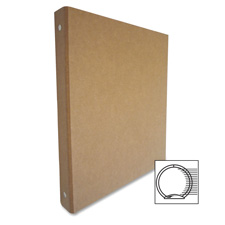 "3-ring binder, recycled, 1"", brown/kraft, sold as 1 each"