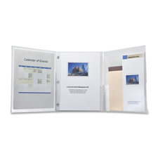 Esselte I.Organize Tri-fold Binder w/Fasteners