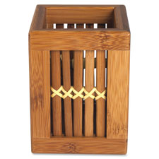 Lorell Bamboo Pencil Cup