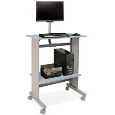 Buddy Laminate Standup Workstation w/LCD Mount