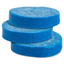 Toss blocks w/blue dye, non-para, 12/bx, cherry scent/blue, sold as 1 box, 12 each per box