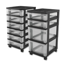 "Mini chests,4-drawer,12-1/16""x14-1/4""x26-7/16"",clear/black, sold as 1 each"