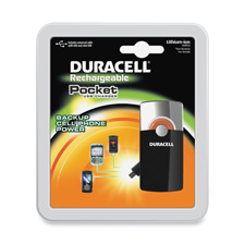 Duracell Lithium-ion Cellphone Pkt Battery Charger