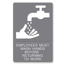 U.S. Stamp & Sign ADA Plastic Wash Hands Sign