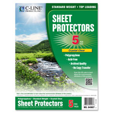 C-Line Biodegradable Top Load Sheet Protectors