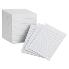 Mini index cards, 7.5 pt., 85 lb., ruled, 200/pk, white, sold as 1 package
