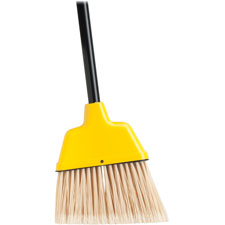 "Angle broom, high performance bristles, 9"" w, yellow, sold as 1 each"