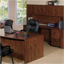 "Rectangular desk shell, 60""x30""x29-1/2"", cherry, sold as 1 each"