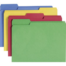 SMEAD MANUFACTURING CO Cutless Folders, Letter, 1/3 Cut, 100/BX, Assorted at Sears.com