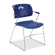 Safco Veer Flex Back Stack Chairs w/ Arms