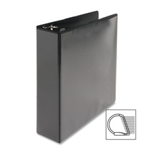 "D-ring view binder, 5"" capacity, 11x8-1/2"", black, sold as 1 each"