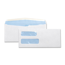 "Double window envelope,no. 10,4-1/8""x9-1/2"",500/bx,white, sold as 1 box"