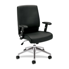 Basyx Leather Executive Mid-Back Pneumatic Chair