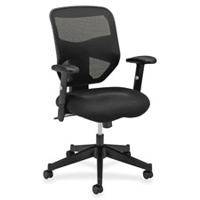 Basyx High-Back Adjustable Arm Pneumatic Chair