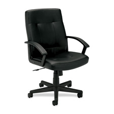Basyx Leather Managerial l Mid-back Chair