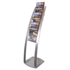 Deflect-O Contemporary Literature Floor Stand