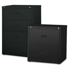 "Lateral file, 4-drawer, 30""x18-5/8""x52-1/2"", black, sold as 1 each"