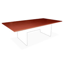 "Conference tabletop, rectangular, 48""x96""wx1-1/4"",cherry, sold as 1 each"