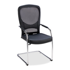 Lorell Mesh/Bonded Leather Guest Chair