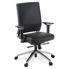 Lorell Executive Leather Lower-back Swivel Chair