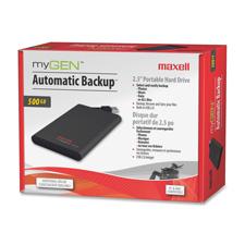 Maxell MyGen Automatic Backup USB 2.0 Hard Drive