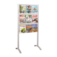 Safco 9-Pocket Magazine Floor Stand