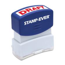 U.S. Stamp & Sign Pre-inked One-Clr Draft Stamp