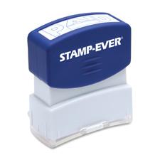 U.S. Stamp & Sign Pre-inked Blue Paid Stamp