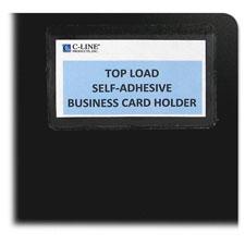 C-Line Top Loading Business Card Holder