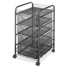 Safco Tubular Steel Frame Mobile File Cart