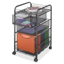 Safco Two Supply Drawer Mobile File Cart