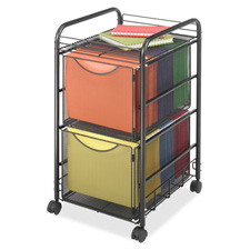 Safco Double Mesh Mobile File Cart