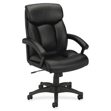 Basyx Executive High-back Pneumatic Leather Chair