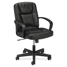 Basyx Executive Pneumatic Mid-back Leather Chair