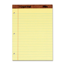 Tops Leatherette Binding 3-Hole Punch Legal Pads