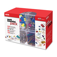 ACCO Assorted Clips and Push Pins Pack