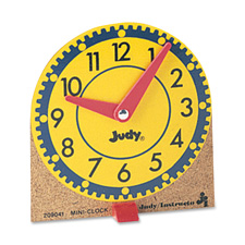 Learning clocks set,mini,moveable hands,wood base,12/st, sold as 1 set