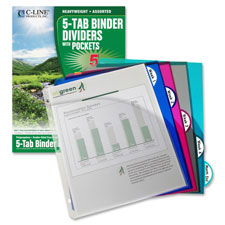C-Line Biodegradable Slant Pocket Index Dividers