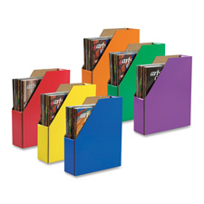 "Magazine holder, 12-3/8""x3-1/8""x10-1/4"", assorted, sold as 1 package"