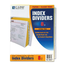 C-Line Clear Tab Index Dividers