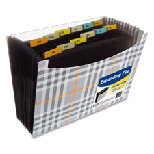 C-Line 13-Pocket Plaid Expanding Files